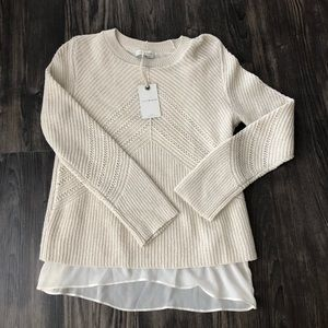 Lucky Brand NWT Cashmere Blend Niko Sweater